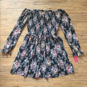 NWT Xhilaration Woman's Black Floral Dress